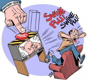 Swine Flu Hysteria by_Latuff
