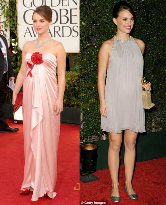 The 68th Annual Golden Globes Gowns Galore Part 2: Natalie Portman changed