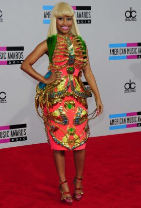 Nicki Minaj wearing Manish Arora dress at the American Music Awars 2010 © Kyle Rover