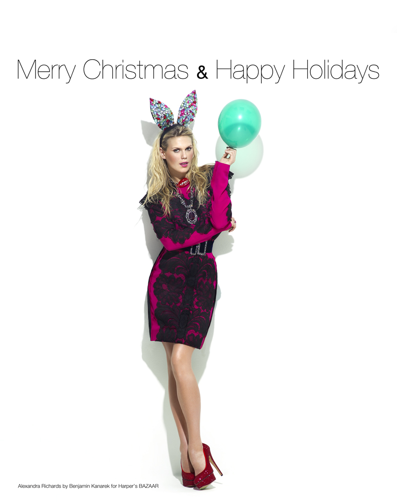 Merry-Christmas-Alexandra-Richards-by-Benjamin-Kanarek-harpers-bazaar