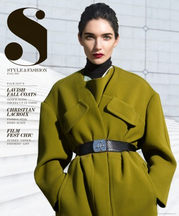 Janice Alida for the cover of S Style & Fashion © Benjamin Kanarek
