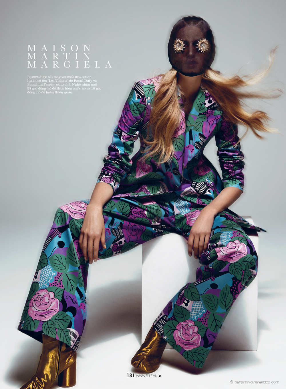 Dauphine McKee in Maison Martin Margiela © Benjamin Kanarek for ELLE Vietnam April 2014