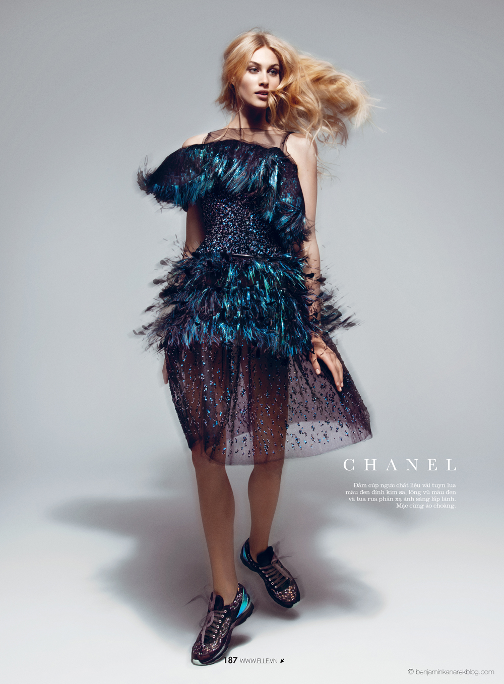 Dauphine McKee in Chanel Haute Couture © Benjamin Kanarek for ELLE Vietnam April 2014