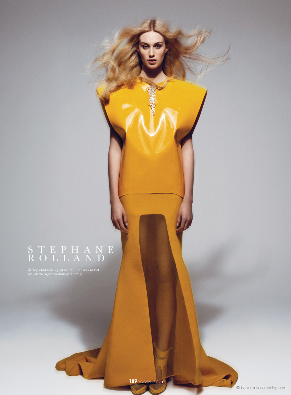 Dauphine McKee in Stéphane Rolland Haute Couture © Benjamin Kanarek for ELLE Vietnam April 2014