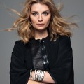 Mischa Barton wearing a jacket by GIVENCHY, earring by GIVENCHY,  bangles by BIJOUX DE FAMILLE © Benjamin Kanarek