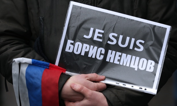 Demonstration in memory of Boris Nemtsov in Moscow