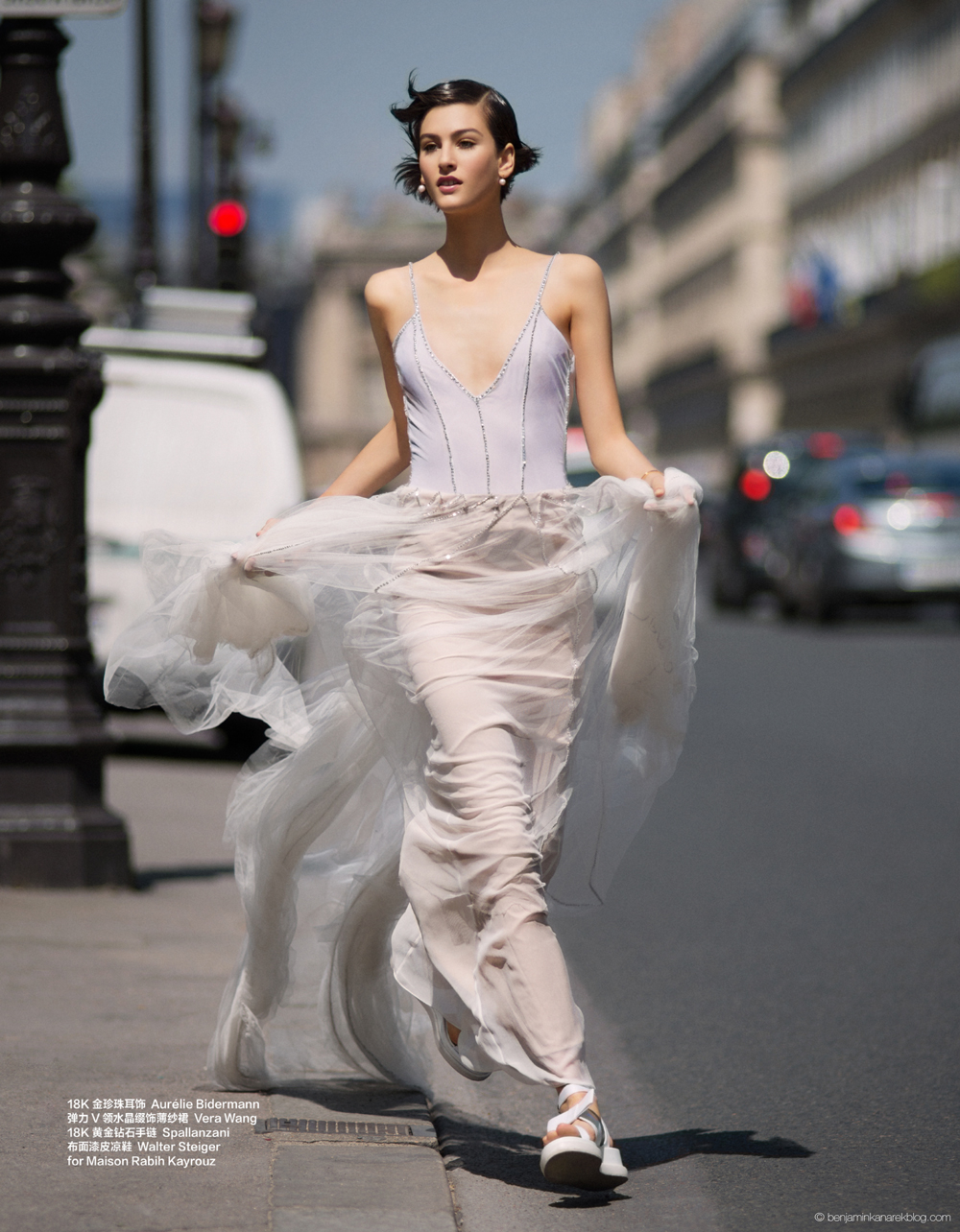 Athena Wilson in Vera Wang © Benjamin Kanarek