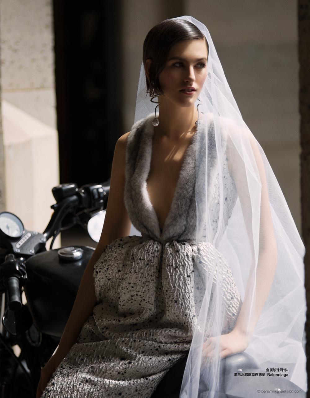 Athena Wilson in Balenciaga © Benjamin Kanarek