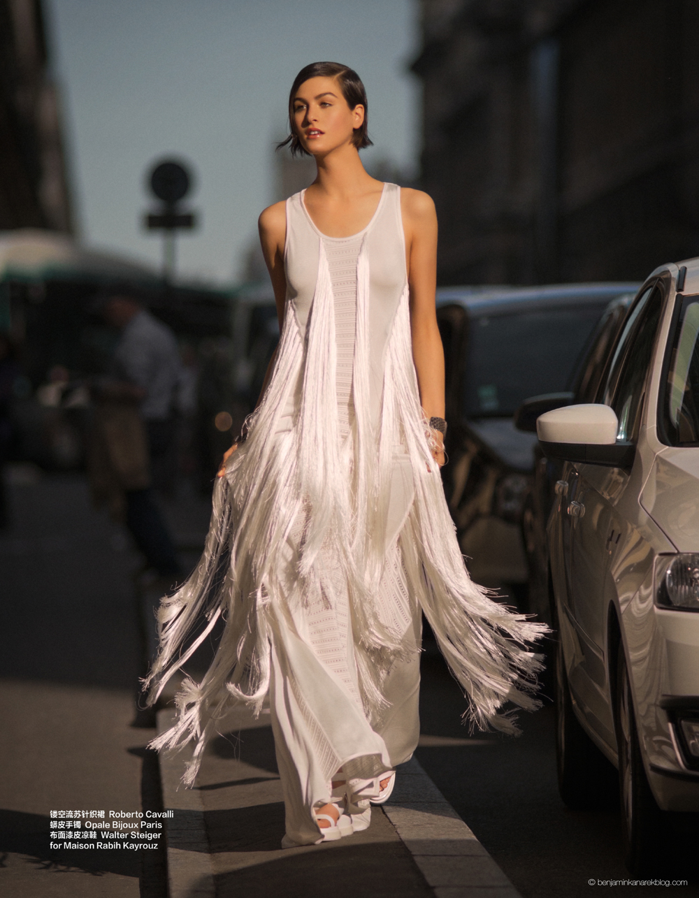 Athena Wilson in Roberto Cavalli © Benjamin Kanarek