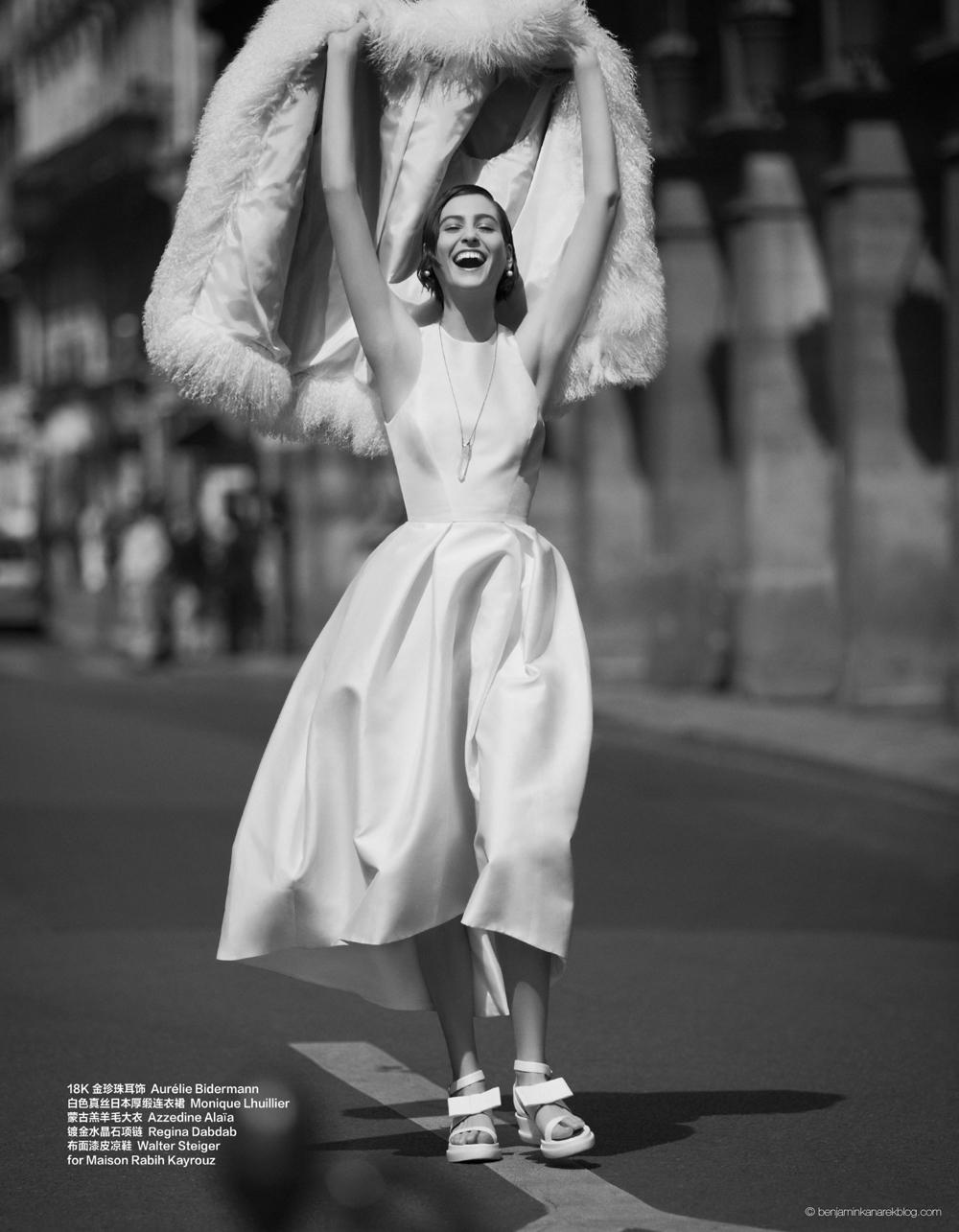 Athena Wilson in Monique Lhuillier © Benjamin Kanarek