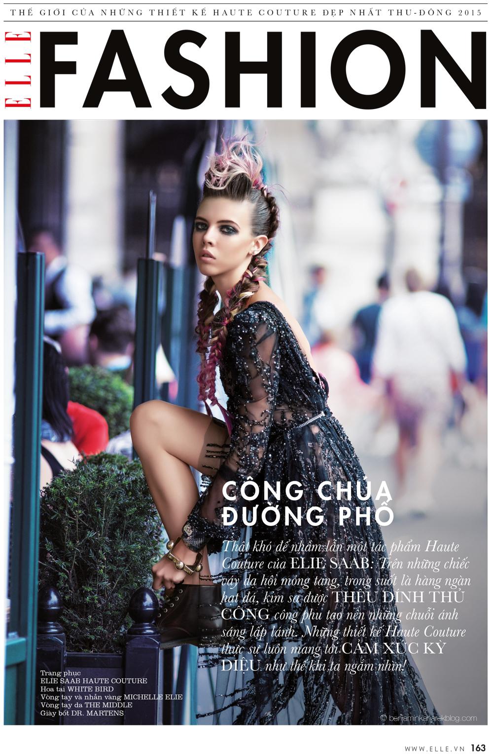 Léa Julian in Elie Saab Haute Couture @ Benjamin Kanarek