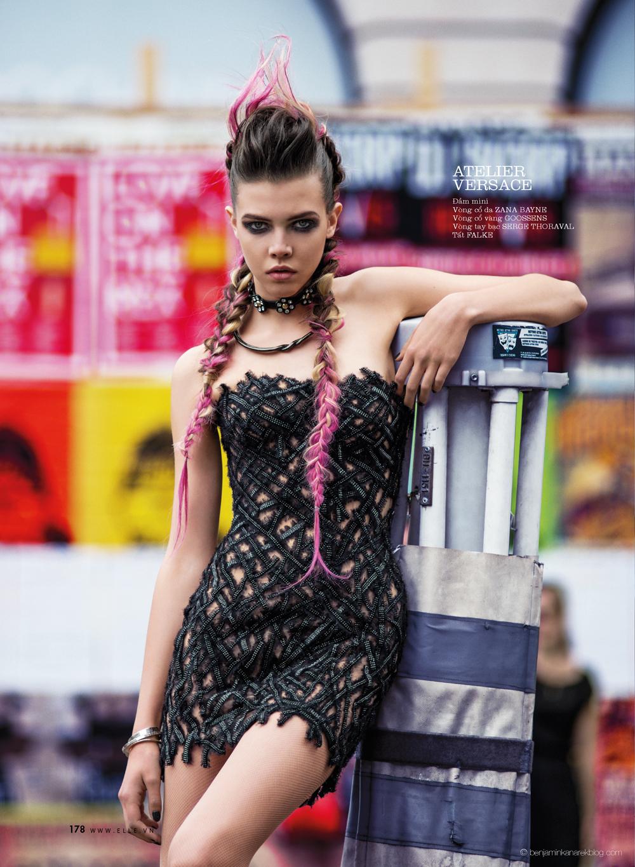 Léa Julian in Atelier Versace @ Benjamin Kanarek