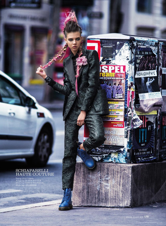 Léa Julian in Schiaparelli Haute Couture @ Benjamin Kanarek