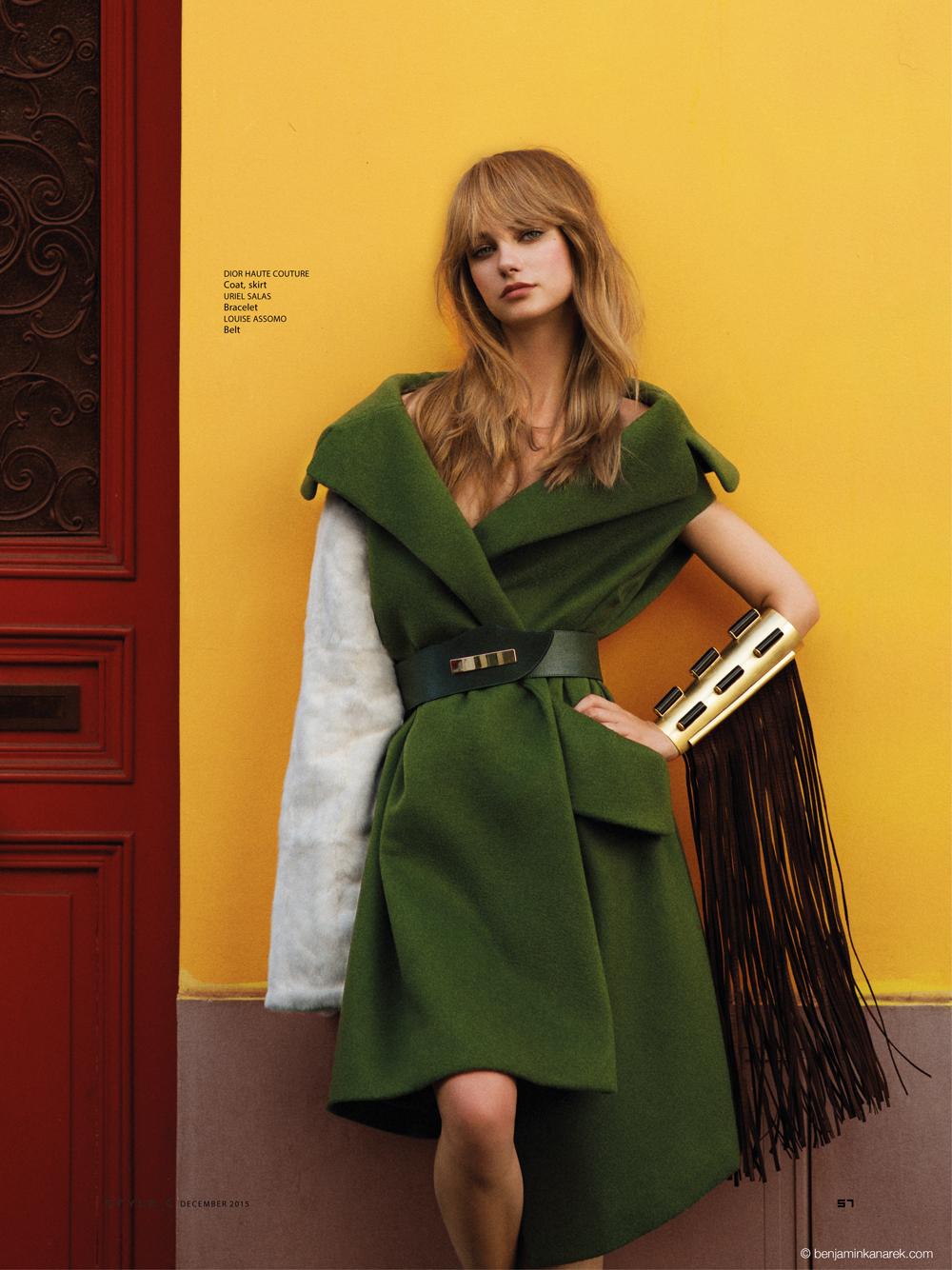Alexandra Tikerpuu in Christian Dior © Benjamin Kanarek