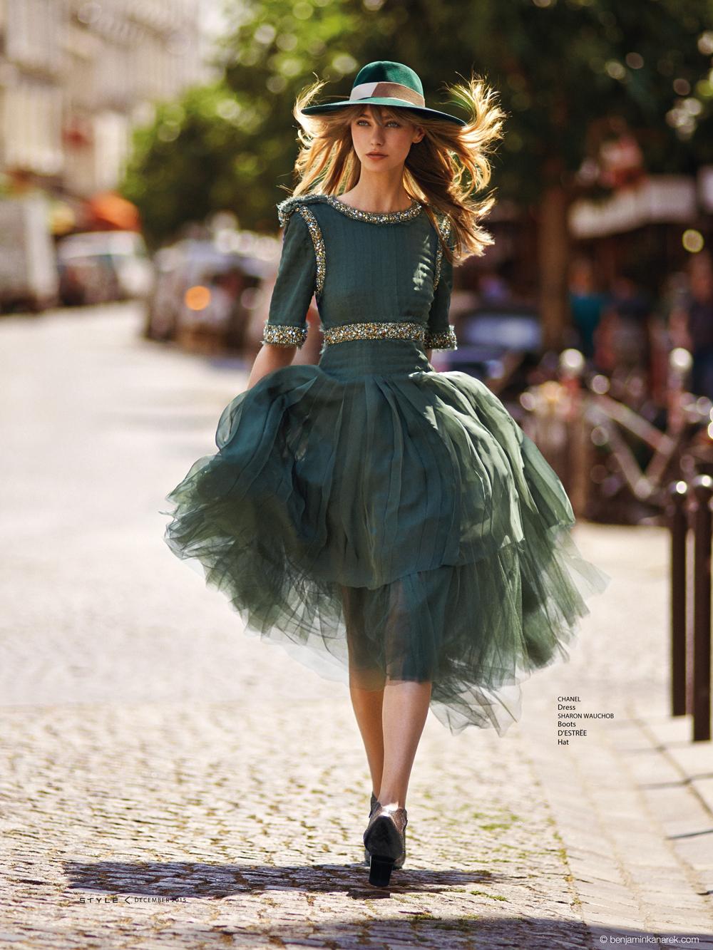 Alexandra Tikerpuu in Chanel © Benjamin Kanarek