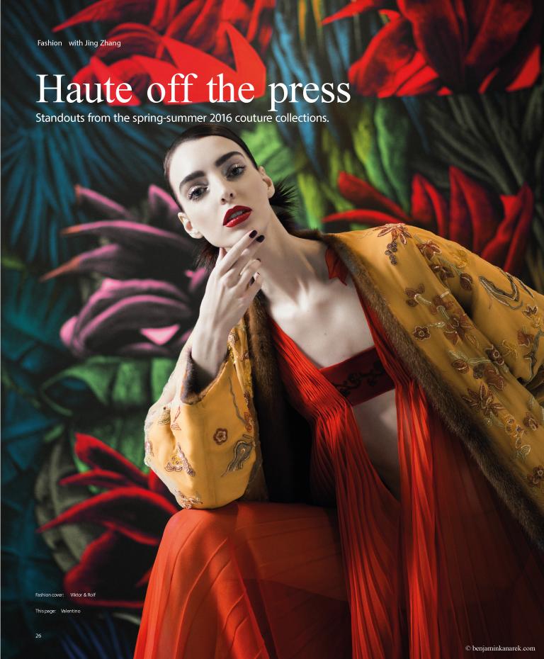 Dajana Antic in Valentino Haute Couture © Benjamin Kanarek