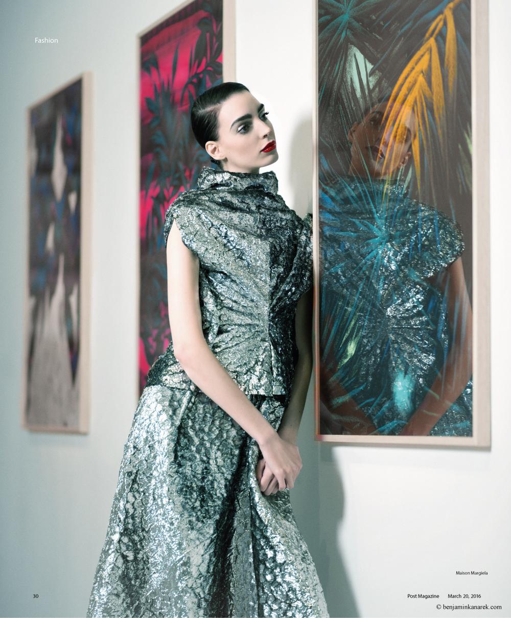 Dajana Antic in Maison Margiela Haute Couture © Benjamin Kanarek