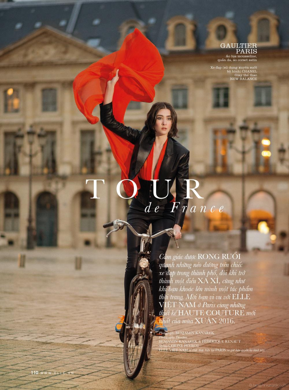Mar Gonzalez in Gaultier Paris © Benjamin Kanarek