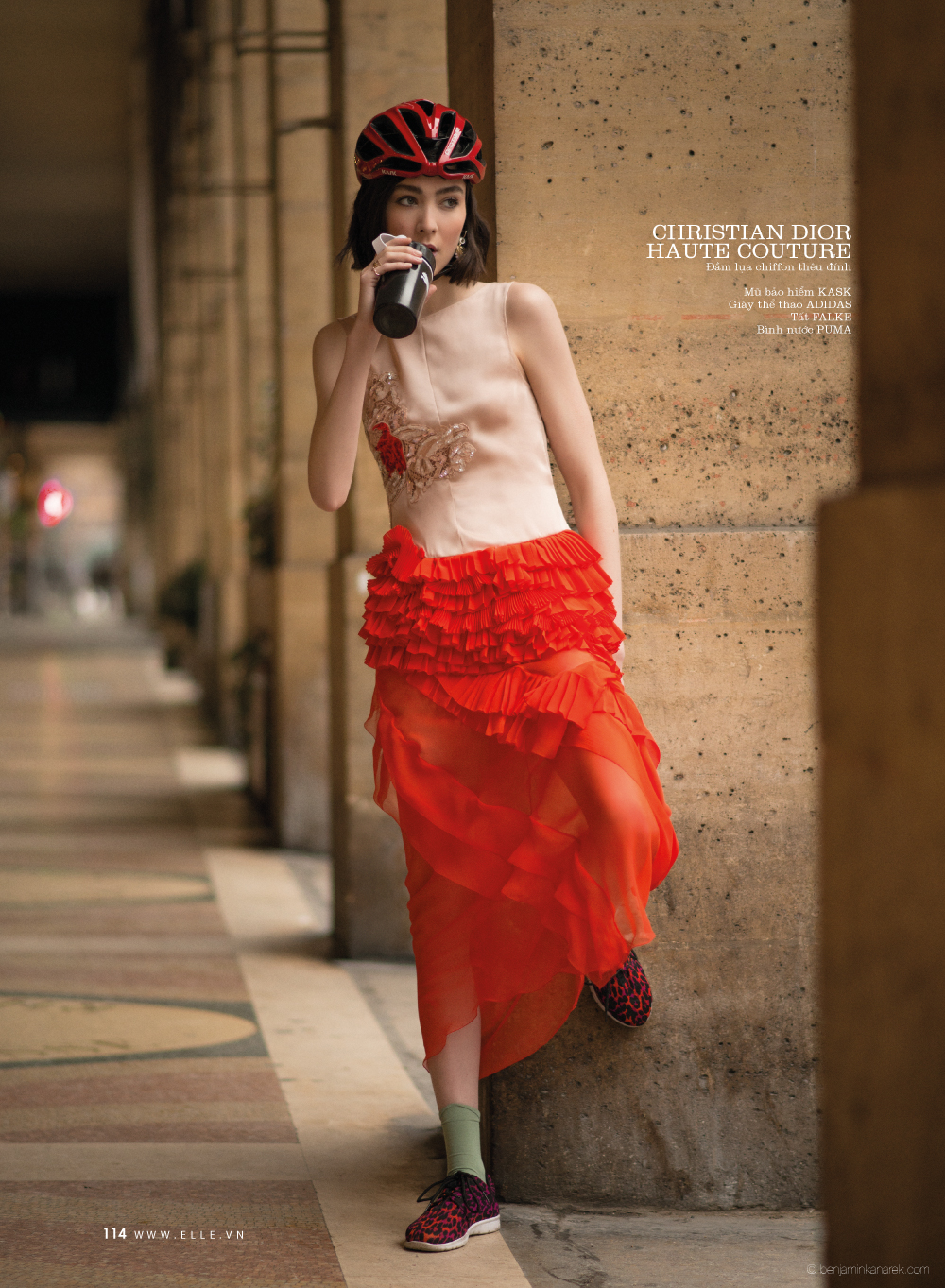 Mar Gonzalez in Christian Dior © Benjamin Kanarek