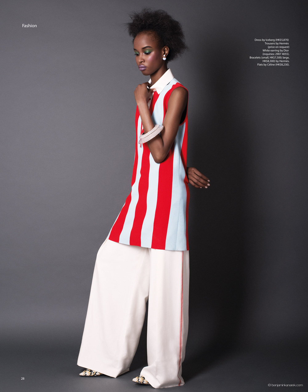 Kad Diallo wearing Iceberg and Hermès © Benjamin Kanarek