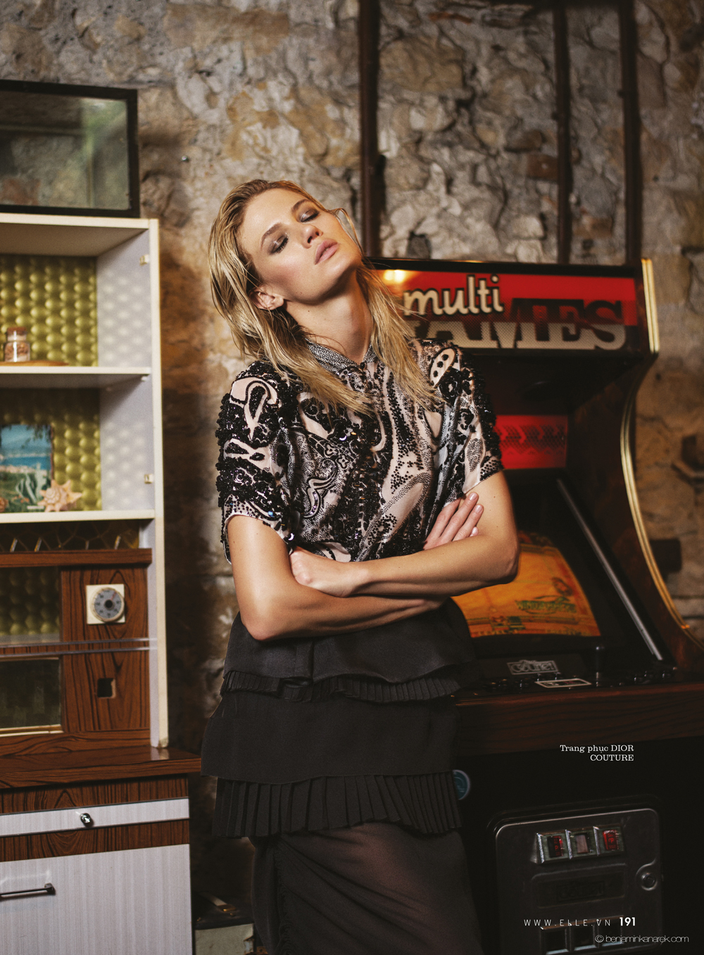 Michelle Buswell in Christian Dior @ Benjamin Kanarek