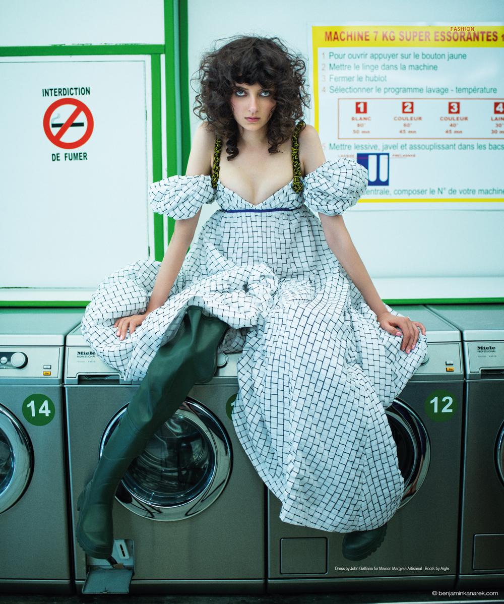 Sarah Engelland in Maison Margiela Haute Couture © Benjamin Kanarek