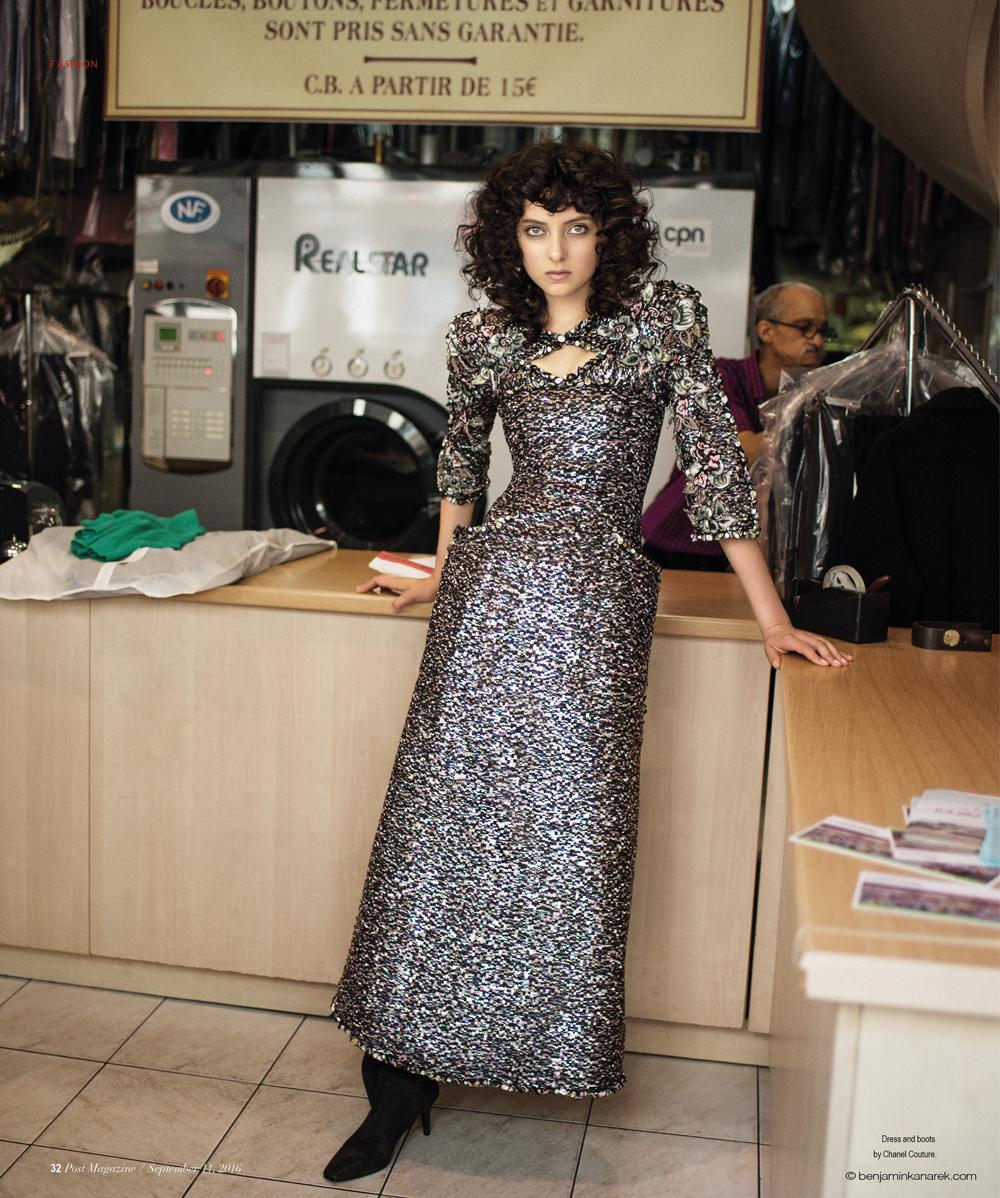 Sarah Engelland in Chanel Haute Couture © Benjamin Kanarek